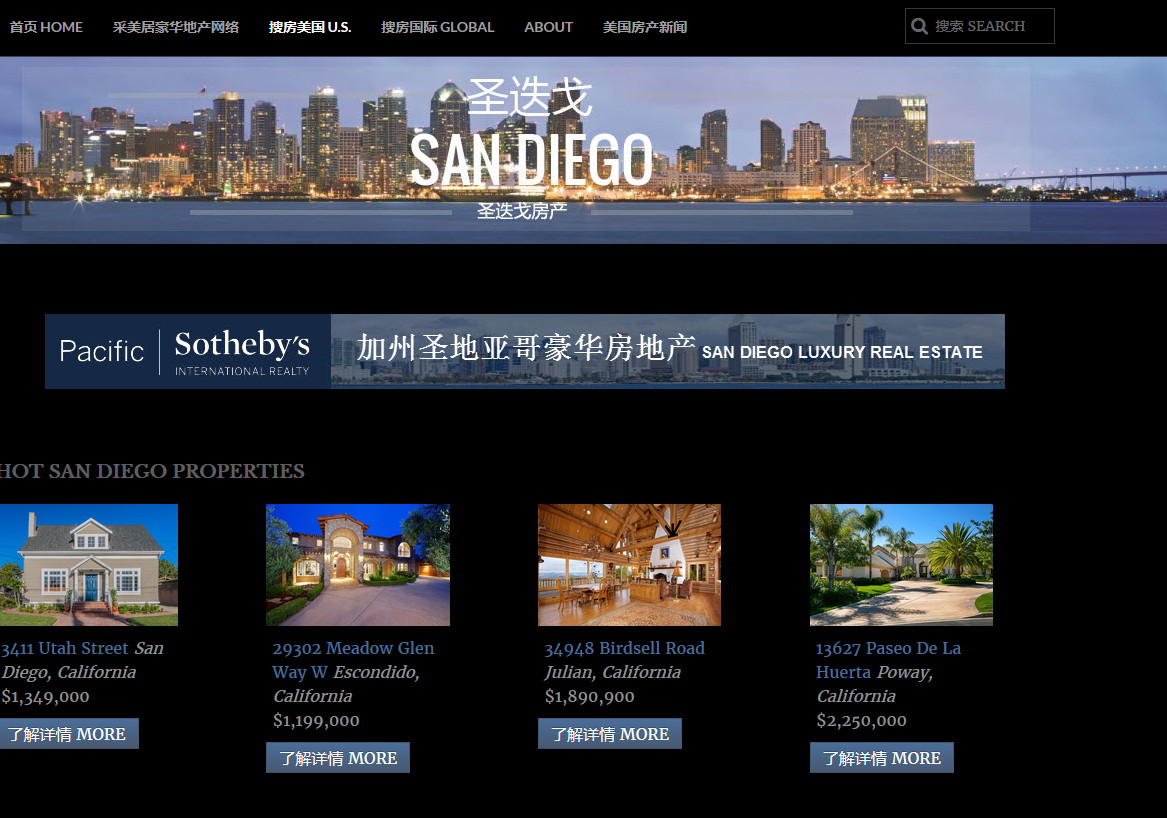 San Diego homes for sale in China