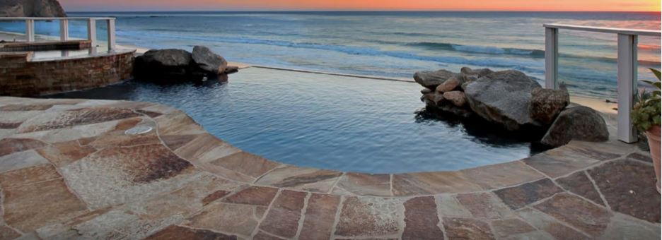 A pool at a San Diego County home for sale